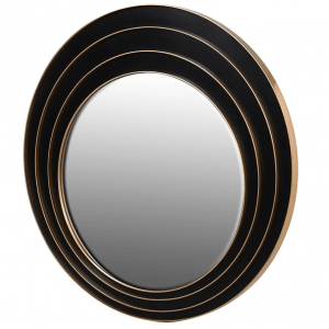 3 Ring Black and Gold Mirror. D80cm. €260. 110ATP-HC