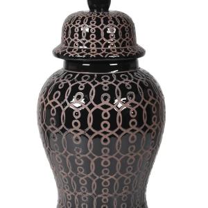 Black Ginger Jar