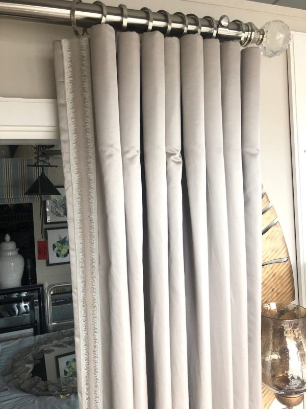 Cylinder Pleat curtains