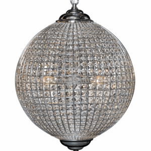 Globe Chrome and crystal Chandelier H60xD50cm €490 141HC-RM