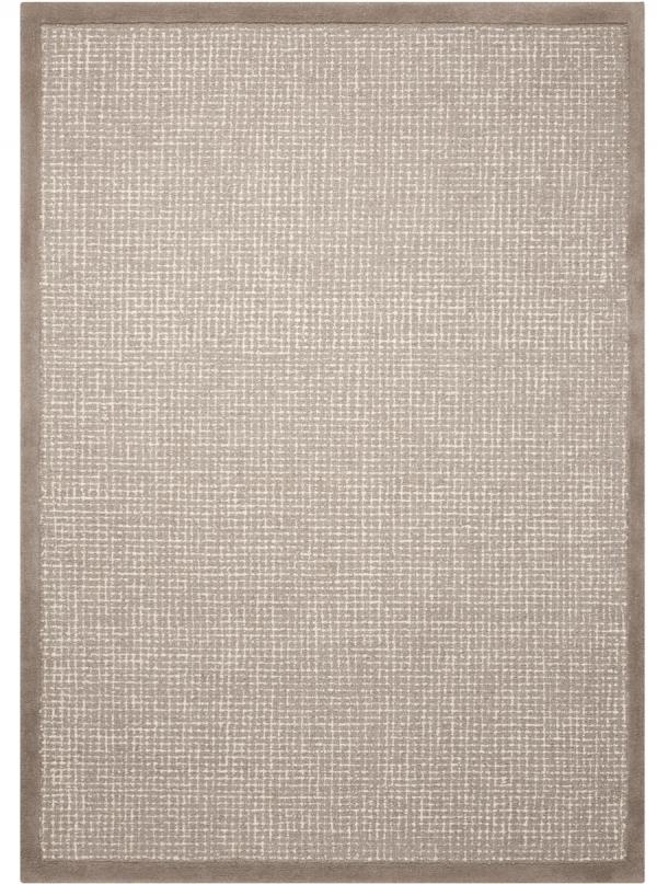Hand tufted loop cut pile rug with border. 1.57mx2.26m. 2.36mx2.97m. 908IK-RN