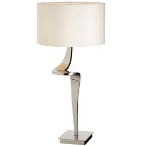 Nickel Twist base and Cream shade. 78cm H x 38cm D €395. OZNE-AVR