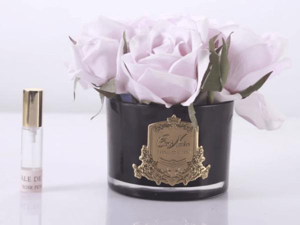 Pink Black Glass Vase