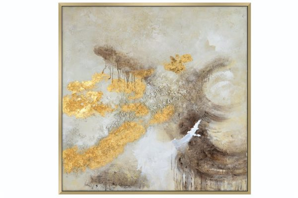 Gold Textured Painting